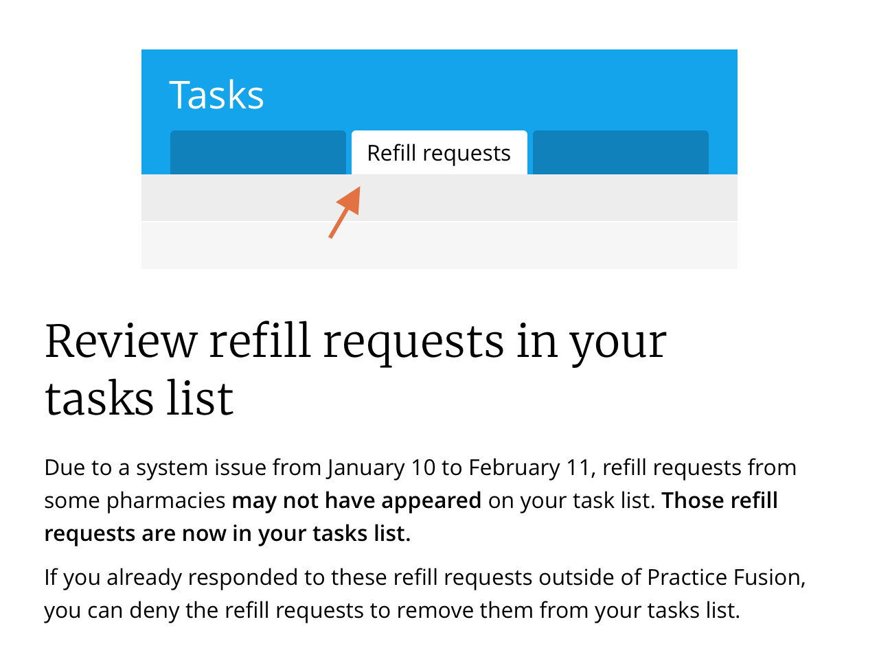 How to process eRx (e-Prescribing) refill requests