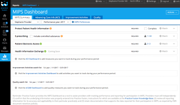 EHR MIPS Dashboard